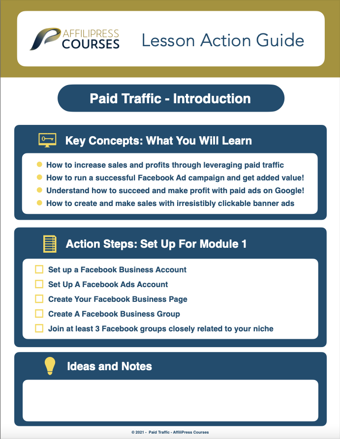 Paid Traffic Introduction